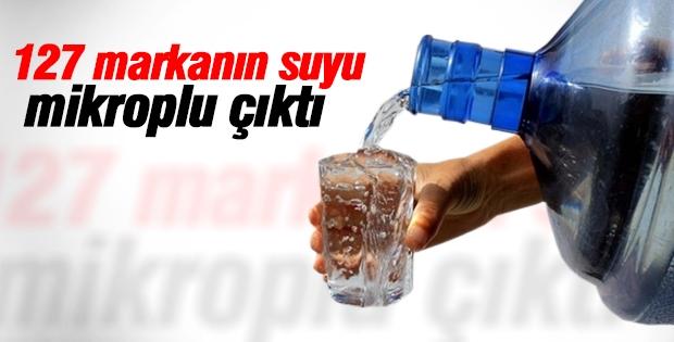 Dikkat! 127 markanın suyu mikroplu çıktı