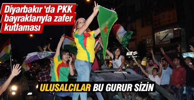 Diyarbakır'da PKK bayraklı HDP sevinci