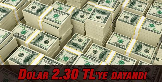 Dolar 2.30 TL'ye dayandı