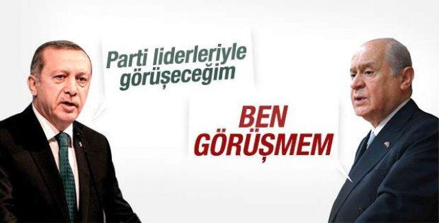 Devlet Bahçeli: Cumhurbaşkanı Erdoğan'la görüşmem