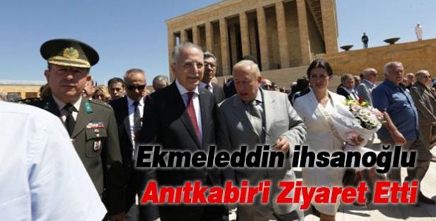 Ekmeleddin İhsanoğlu, Anıtkabir'i Ziyaret Etti