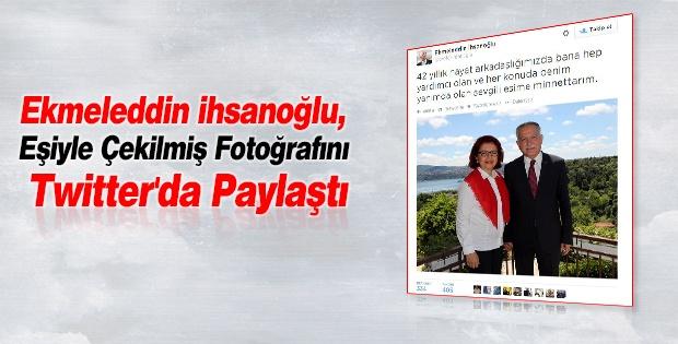 Ekmeleddin İhsanoğlu, Eşiyle Çekilmiş Fotoğrafını Twitter'da Paylaştı