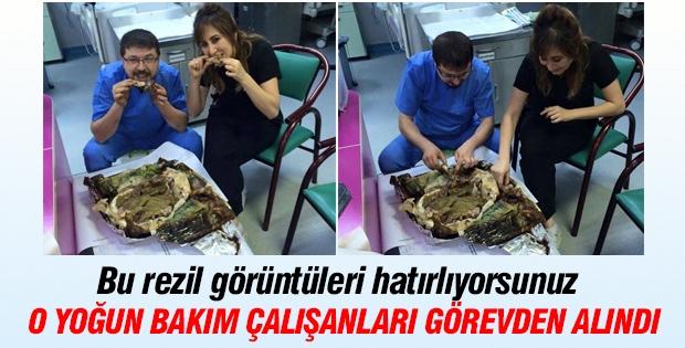 Elazığ'da hastanede kebap yiyenler görevden alındı