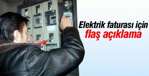 Elektrik faturası için flaş açıklama