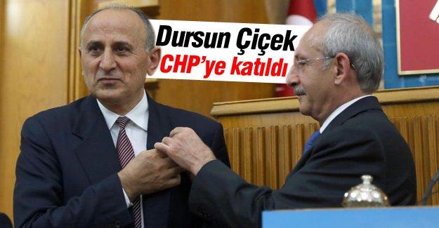 Emekli Kurmay Albay Dursun Çiçek, CHP'ye katıldı
