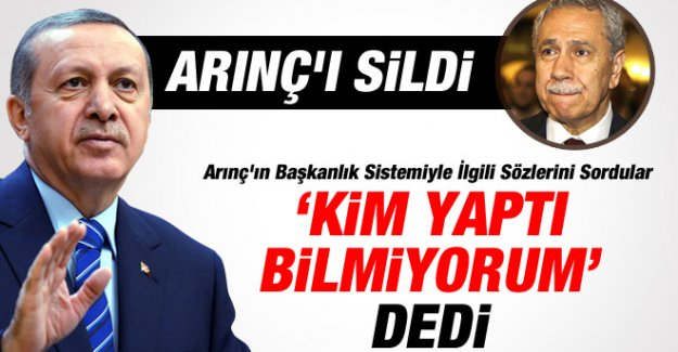 Erdoğan, Arınç'ı Sildi mi?