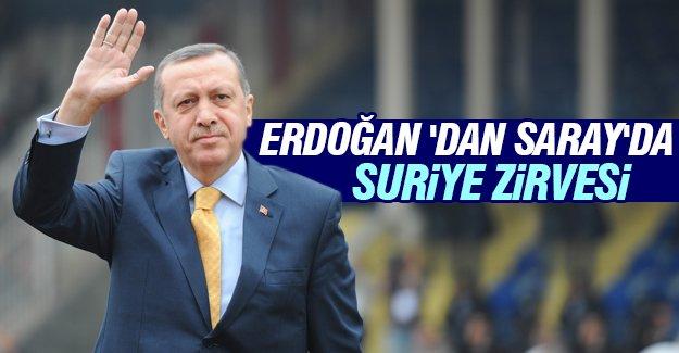 Erdoğan'dan Saray'da 'Suriye' zirvesi