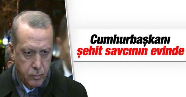 Erdoğan, Savcı Kiraz'ın ailesini ziyarete gitti