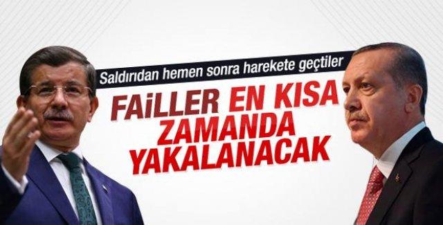 Erdoğan ve Davutoğlu Fenerbahçe saldırısını kınadılar