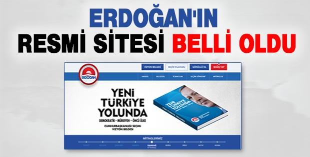 Erdoğan'ın resmi sitesi belli oldu