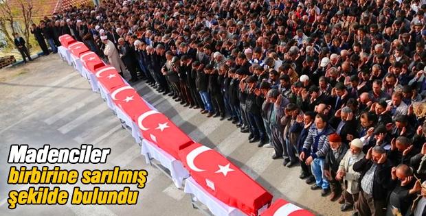 Ermenek'te 8 madenci için cenaze töreni