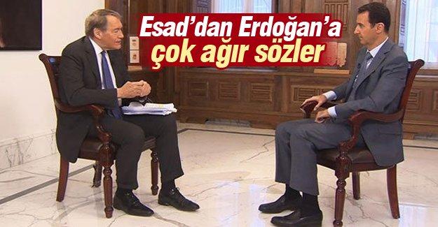 Esad'dan Erdoğan'a çok ağır sözler