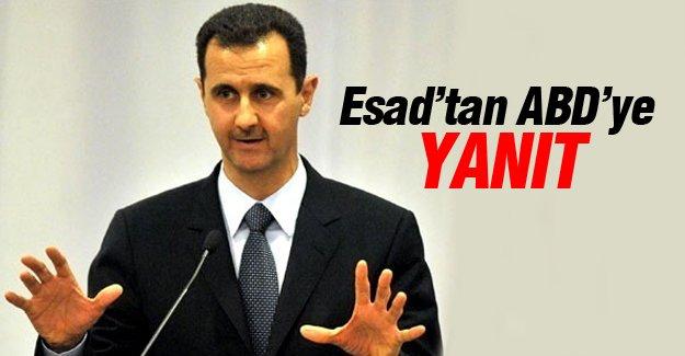 Esad'tan ABD'ye yanıt