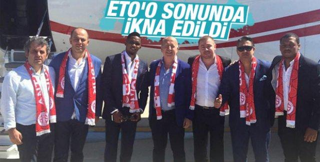 Eto'o Antalya'ya geldi