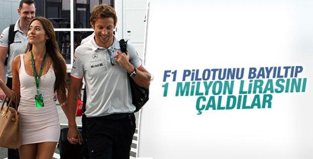 F1 pilotu Button'u bayıltıp soydular