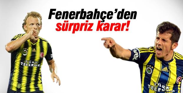 Fenerbahçe'den sürpriz Emre ve Kuyt kararı!