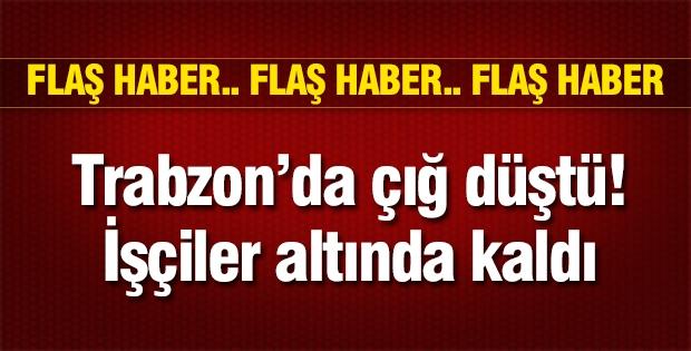 Flaş Haber... Trabzon'da çığ düştü!
