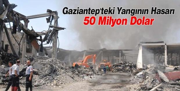 Gaziantep'teki Yangının Hasarı Tahmini 50 Milyon Dolar