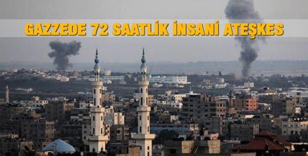 Gazzede 72 İnsani Saatlik Ateşkes