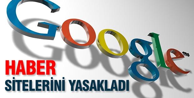 Google haber sitelerini yasakladı
