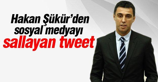 Hakan Şükür'den sosyal medyayı sallayan tweet