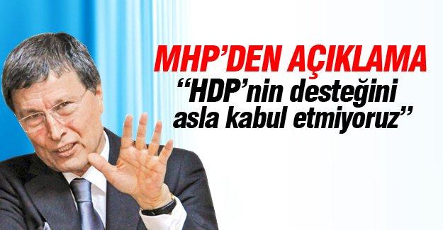 Halaçoğlu: HDP'nin desteğini asla kabul etmiyoruz