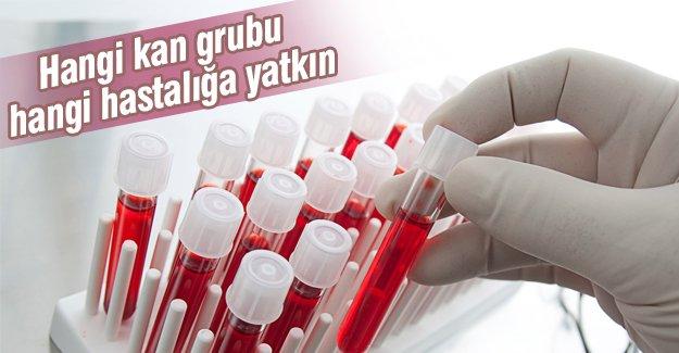 Hangi kan grubu hangi hastalığa yatkın