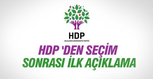 HDP'den seçim sonrası ilk açıklama geldi