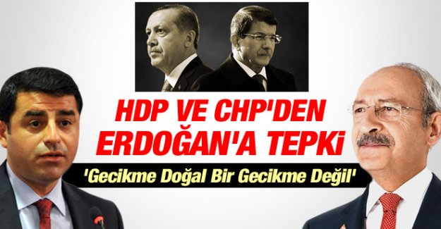 HDP ve CHP'den Erdoğan'a Çağrı