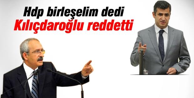 HDP'den CHP'ye birleşme çağrısına Kılıçdaroğlu cevap verdi
