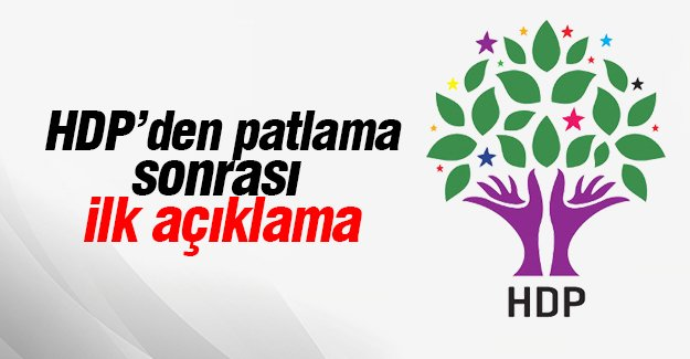 HDP'den patlama sonrası ilk açıklama