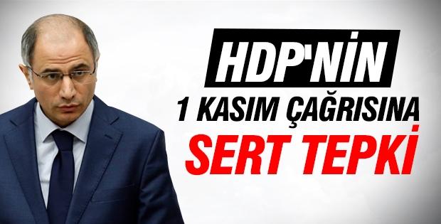 HDP'nin 1 Kasım çağrısına Efkan Ala'dan sert tepki