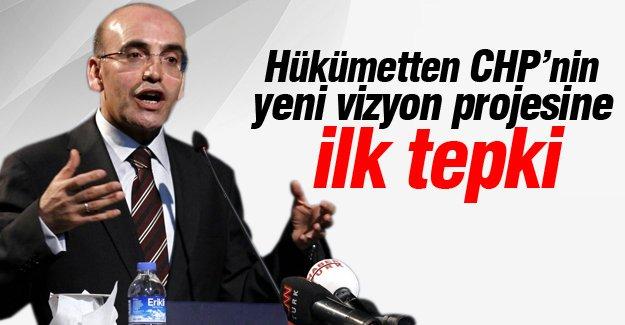 Hükümetten, CHP'nin yeni vizyon projesine ilk tepki