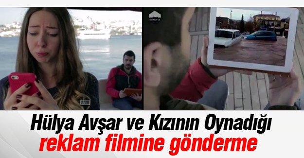 Hülya Avşar ve Kızının Oynadığı reklam filmine gönderme