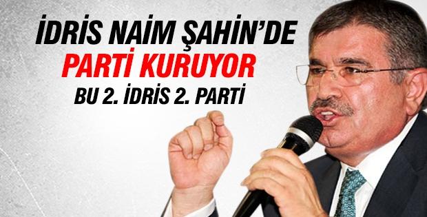 İdris Naim Şahin'de yeni parti kuruyor