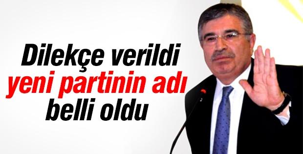 İdris Naim Şahin'in kurduğu yeni partinin adı belli oldu