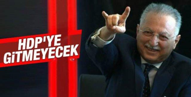 İhsanoğlu HDP'ye gitmeyecek