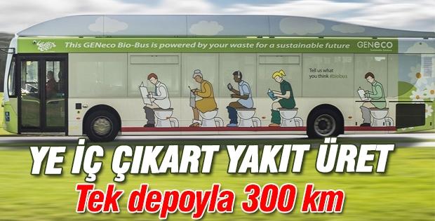 İnsan atıklarıyla çalışan otobüs seferleri