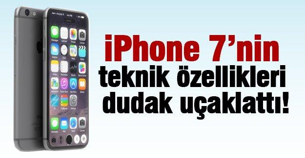 iPhone 7'nin  teknik özellikleri  dudak uçaklattı!