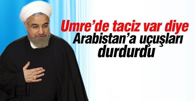 İran Arabistan'da umre uçuşlarını durdurdu