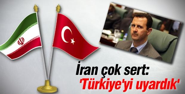 İran çok sert: 'Türkiye'yi uyardık'