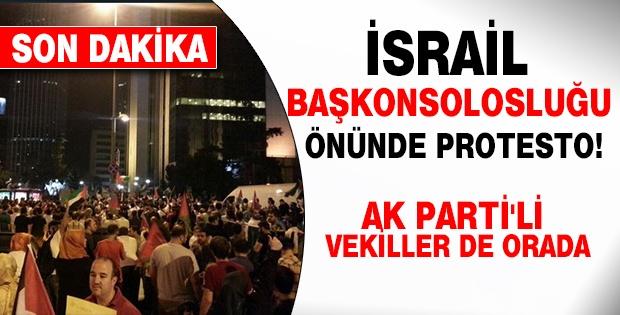 İsrail Başkonsolosluğu önünde protesto!