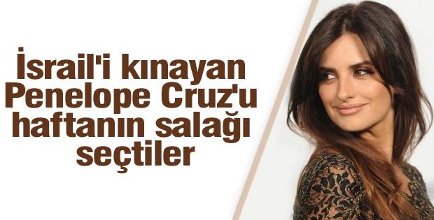 İsrail'in yaptığı soykırımı kınadı diye ABD televizyonu Penelope Cruz'u haftanın salağı seçti