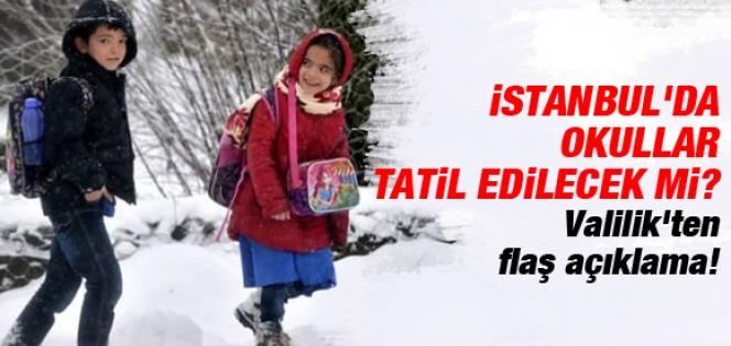 İstanbul'da Okullar 8 Ocak'ta Tatil mi?
