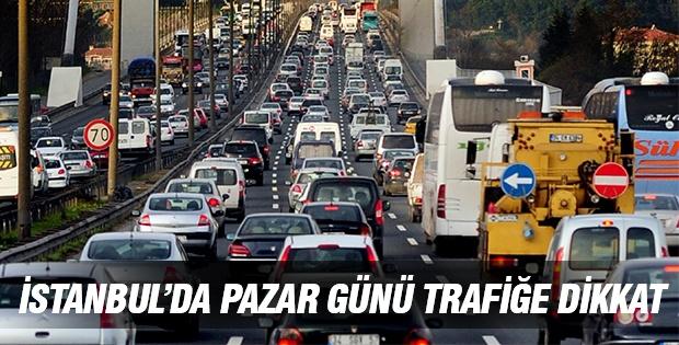 İstanbul'da Pazar Günü Trafiğe Dikkat