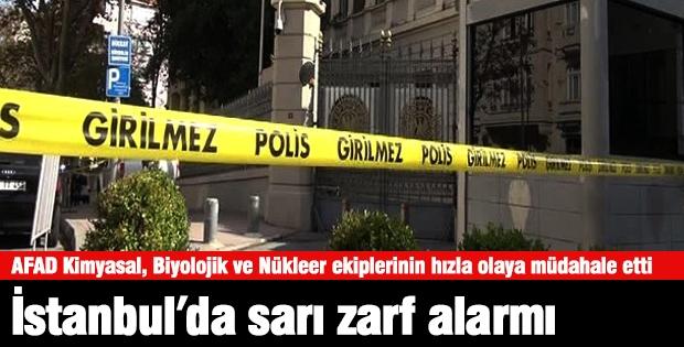 İstanbul'da Sarı Zarf Alarmı