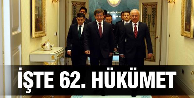 İŞTE 62. HÜKÜMET