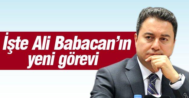 İşte Ali Babacan'ın yeni görevi