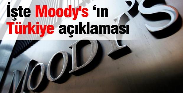 İşte Moody's 'ın Türkiye açıklaması