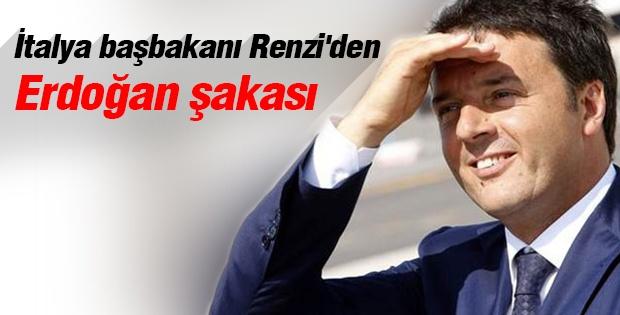 İtalya başbakanı Renzi'den Erdoğan şakası